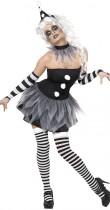 Déguisement Pierrot Halloween femme