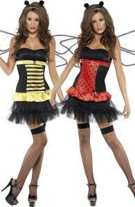 déguisement réversible coccinelle et abeille