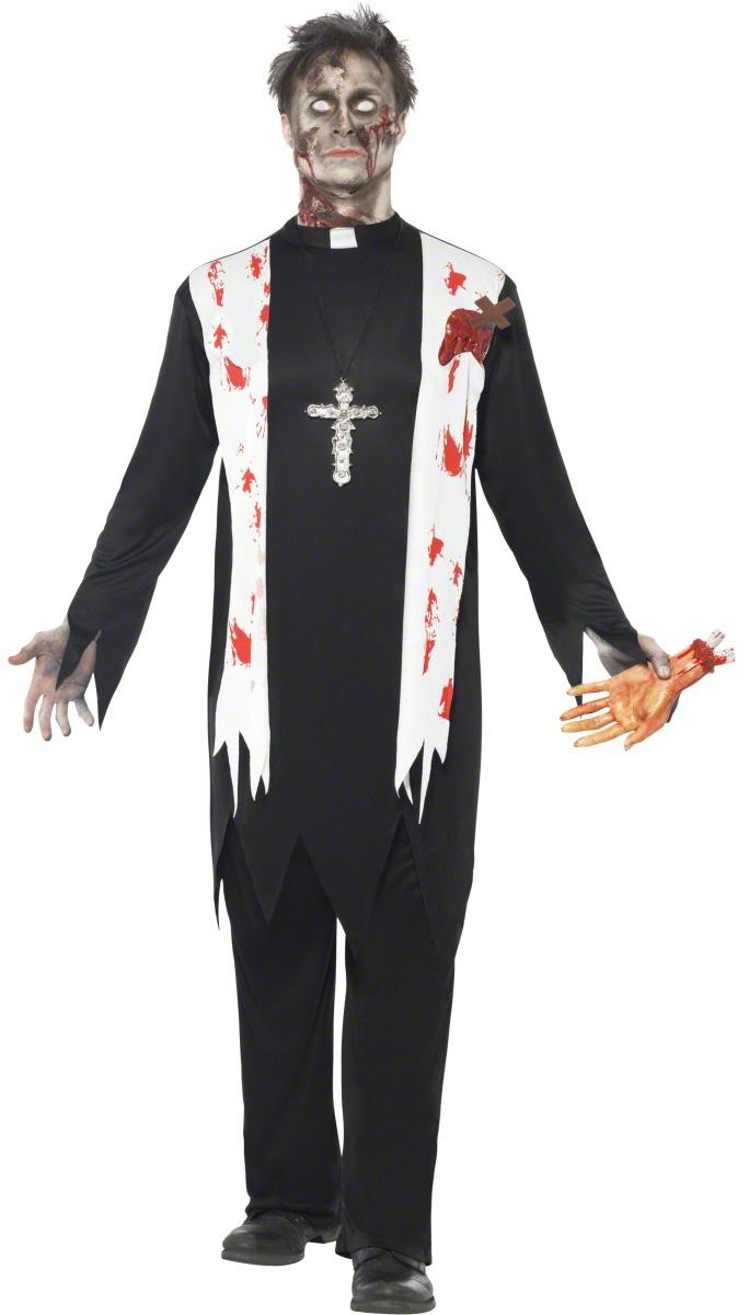 d guisement religieux zombie costume mort vivant homme halloween pas cher. Black Bedroom Furniture Sets. Home Design Ideas