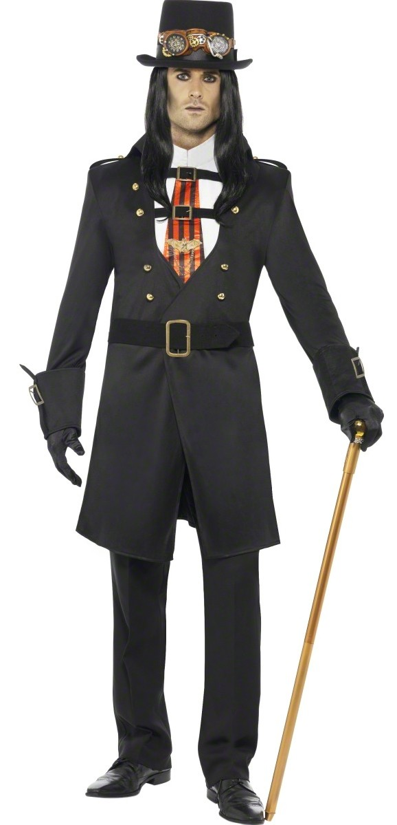 D guisement comte steampunk costume r tro futuriste homme soir e th me - Deguisement pulp fiction ...