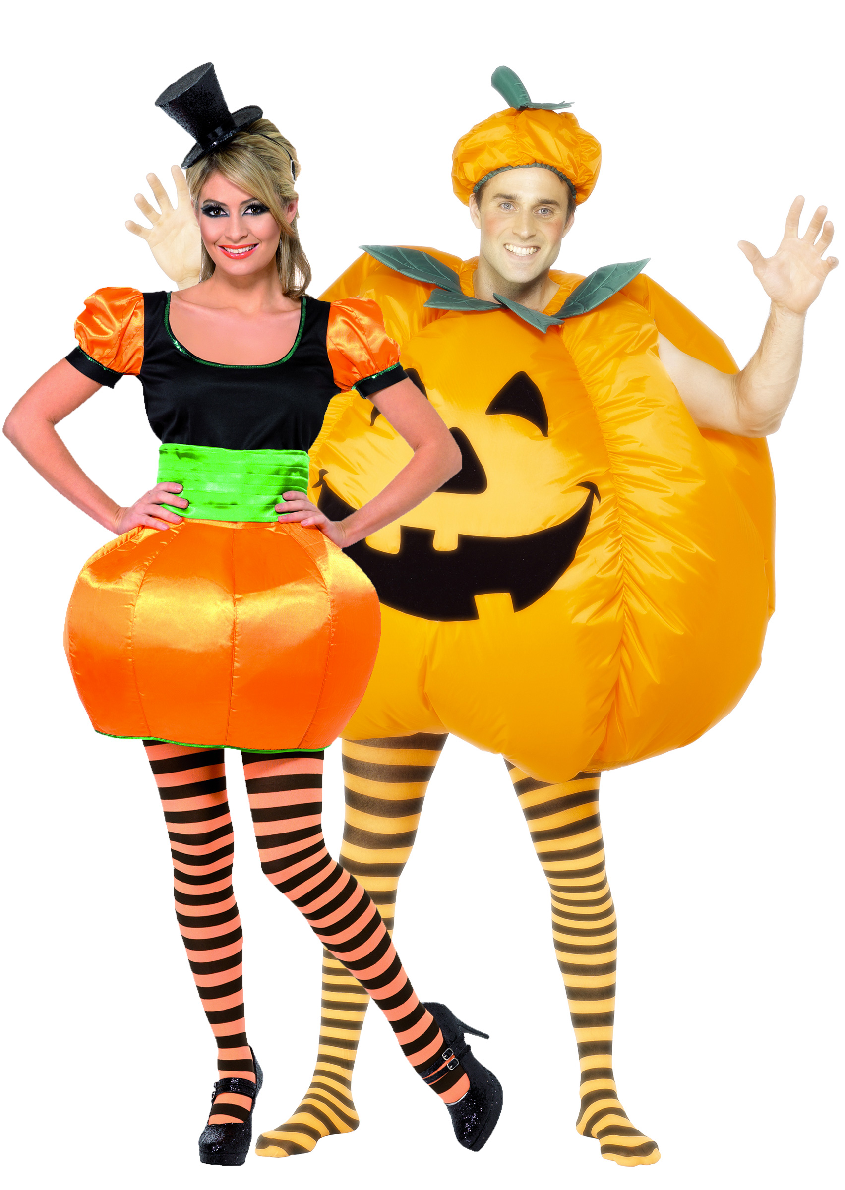 D guisement couple citrouille costume couple pas cher f te d 39 halloween - Deguisement halloween couple ...