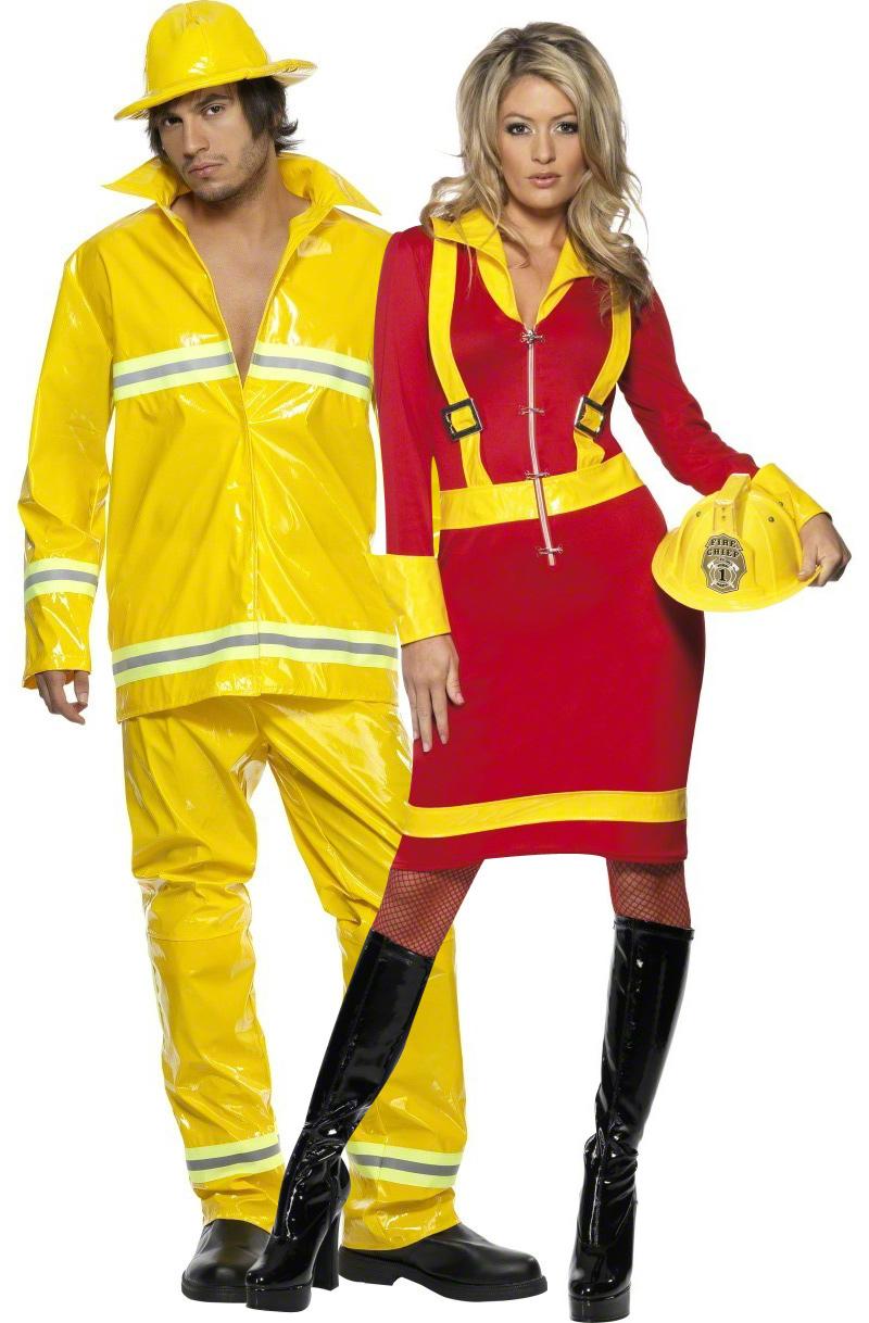 d guisement couple pompiers costume couple pas cher soir e th me uniforme. Black Bedroom Furniture Sets. Home Design Ideas
