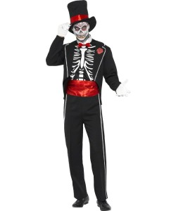 déguisement gentleman squelette
