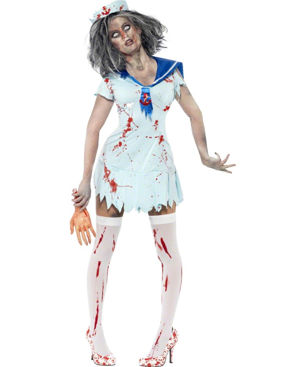 d guisement marin zombie femme costume mort vivant pas cher soir e th me. Black Bedroom Furniture Sets. Home Design Ideas