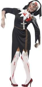 déguisement religieuse zombie