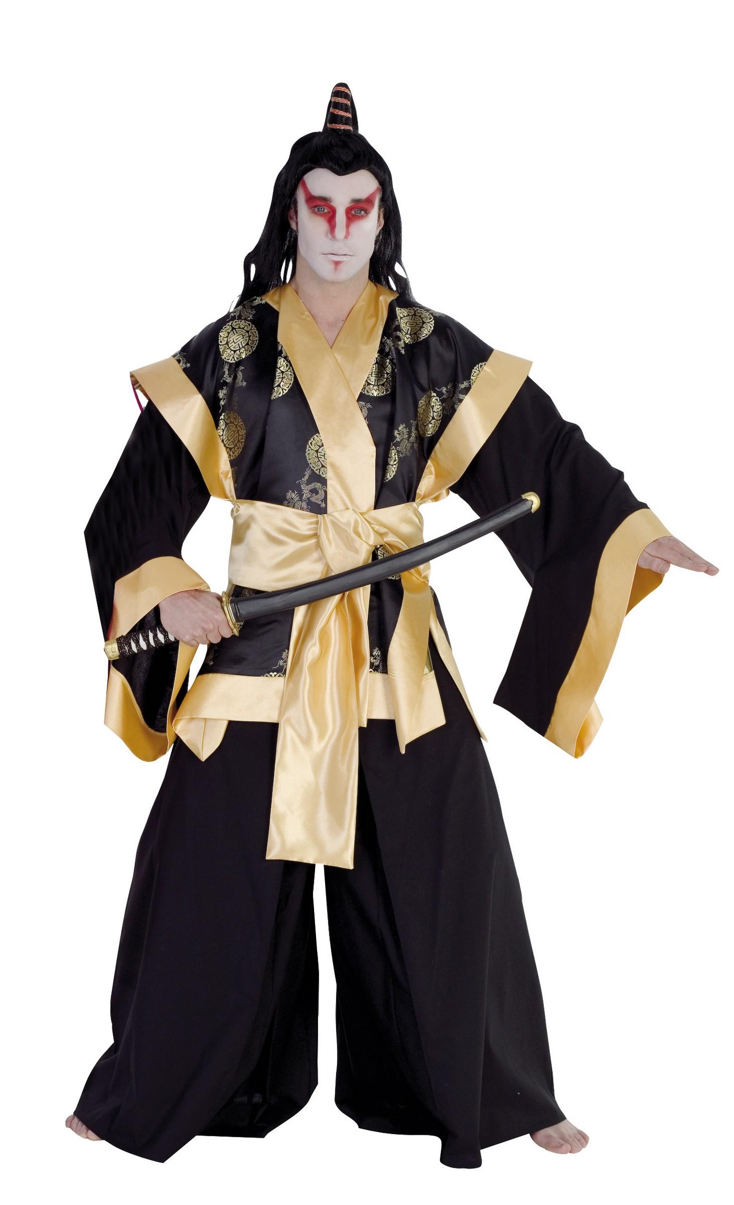 d guisement samourai homme costume asiatique adulte soir e th me. Black Bedroom Furniture Sets. Home Design Ideas