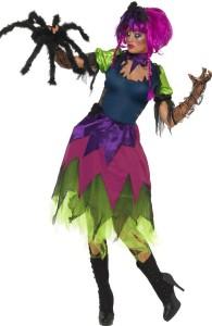 déguisement sorcière fluo