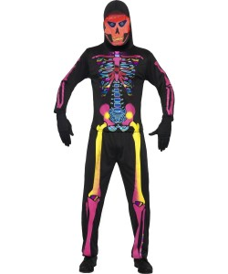 déguisement squelette fluo