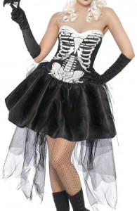 déguisement squelette gothique femme