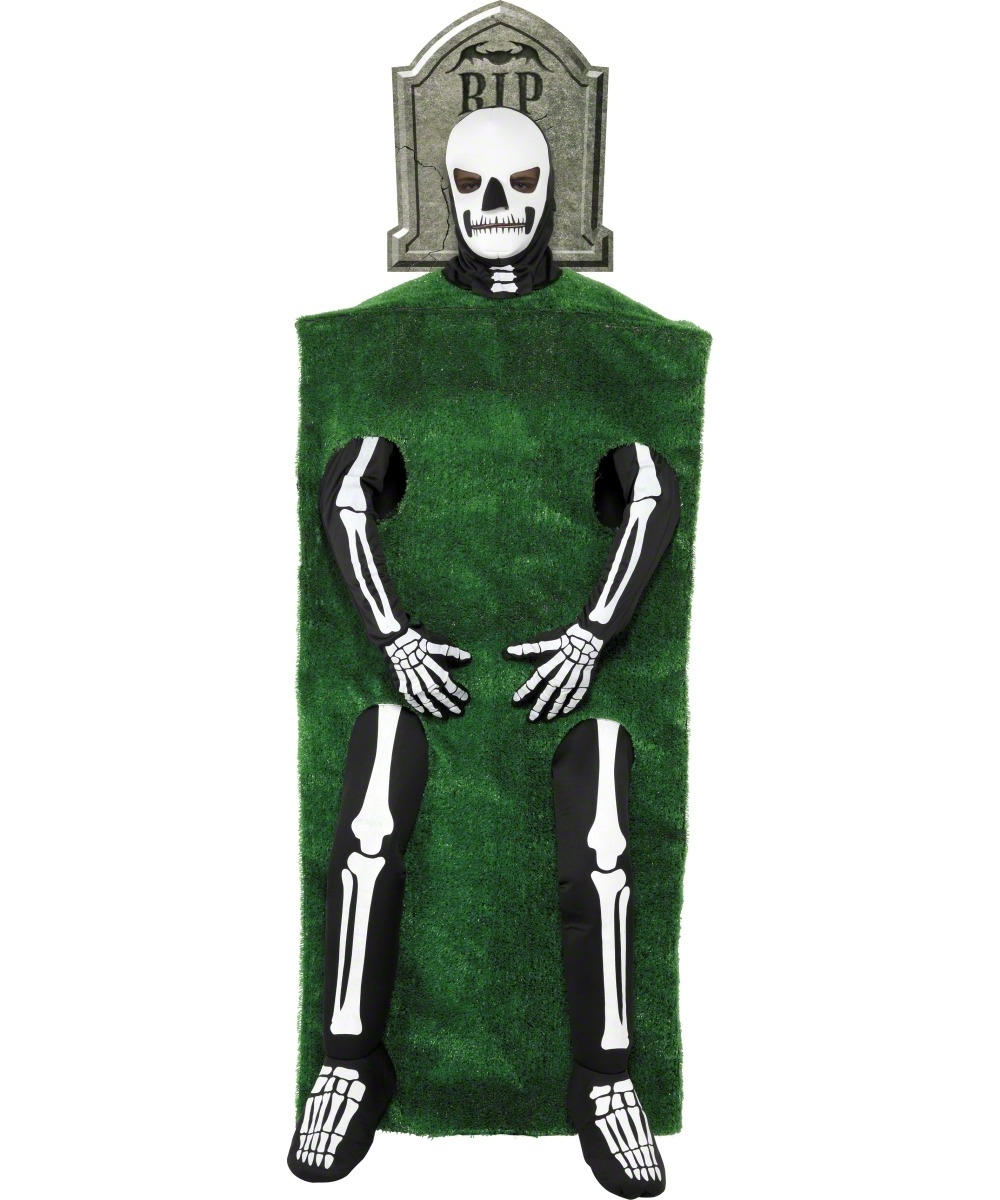 D guisement squelette pierre tombale costume tombe adulte f te halloween - Pierre tombale halloween ...