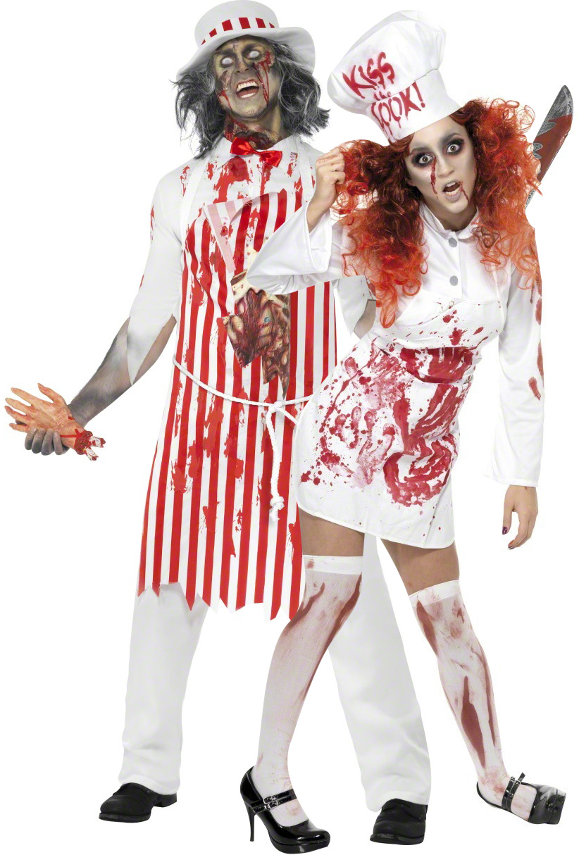 D guisement couple bouchers zombies costume mort vivant adulte soir e halloween - Deguisement halloween couple ...