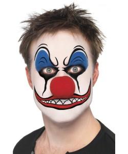 kit maquillage clown mal fique nez rouge clown tueur maquillage halloween. Black Bedroom Furniture Sets. Home Design Ideas