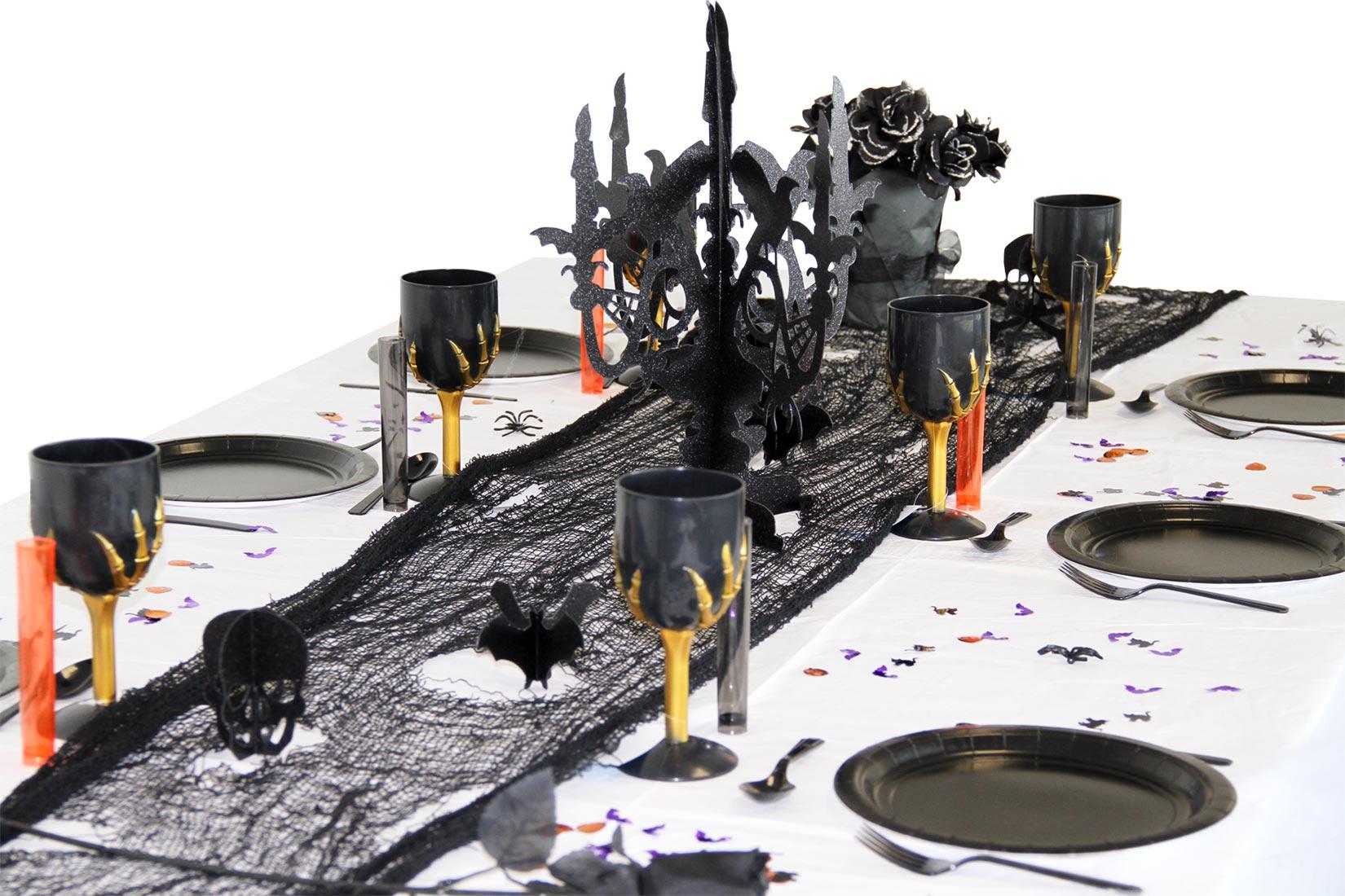 pack d co table halloween vaisselle jetable d coration. Black Bedroom Furniture Sets. Home Design Ideas