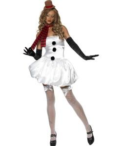 déguisement bonhomme de neige femme