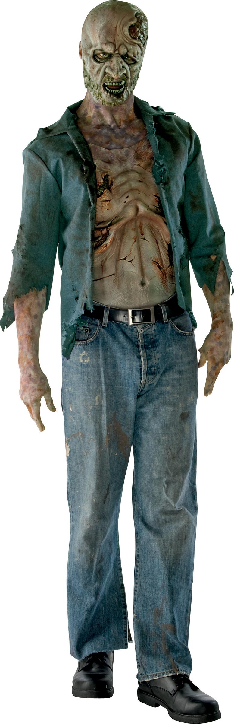 d guisement the walking dead homme costume mort vivant soir e halloween. Black Bedroom Furniture Sets. Home Design Ideas