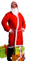 Manteau de père Noël et sa barbe