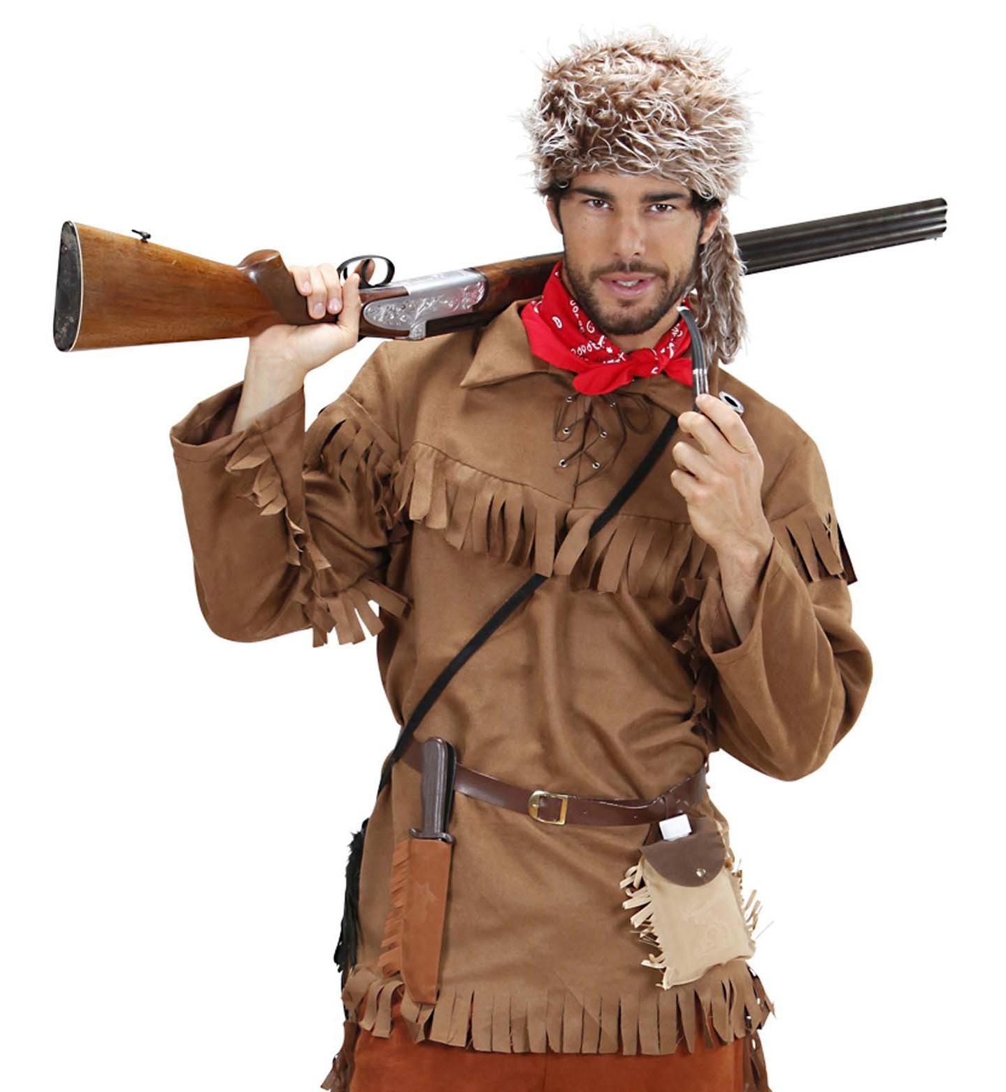 Trappeurs costume pour homme Marron Homme Costume Chasseur rôdeur