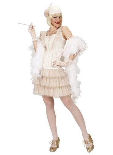 Charleston Cabaret Soirée Déguisement Pour FemmeCostume Blanc uTKc3Fl1J