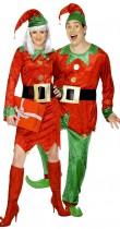 Déguisement couple d'elfes de Noël