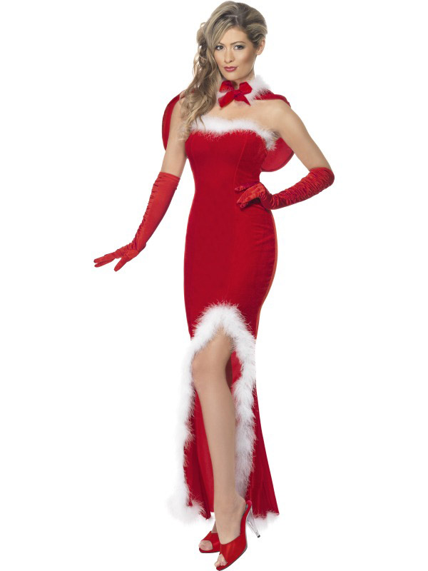 Robe m re noel chic d guisement glamour m re noel - Costume pere noel pas cher ...