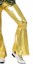 Pantalon disco doré homme