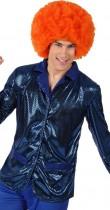 Veste disco bleue pour homme