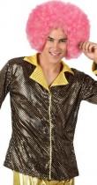 Veste disco dorée homme