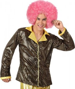 Veste disco dorée