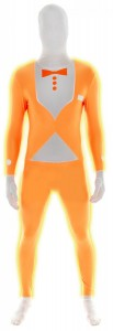 costume Morphsuit orange fluo