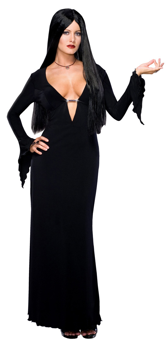 d guisement morticia addams costume famille addams sexy halloween. Black Bedroom Furniture Sets. Home Design Ideas