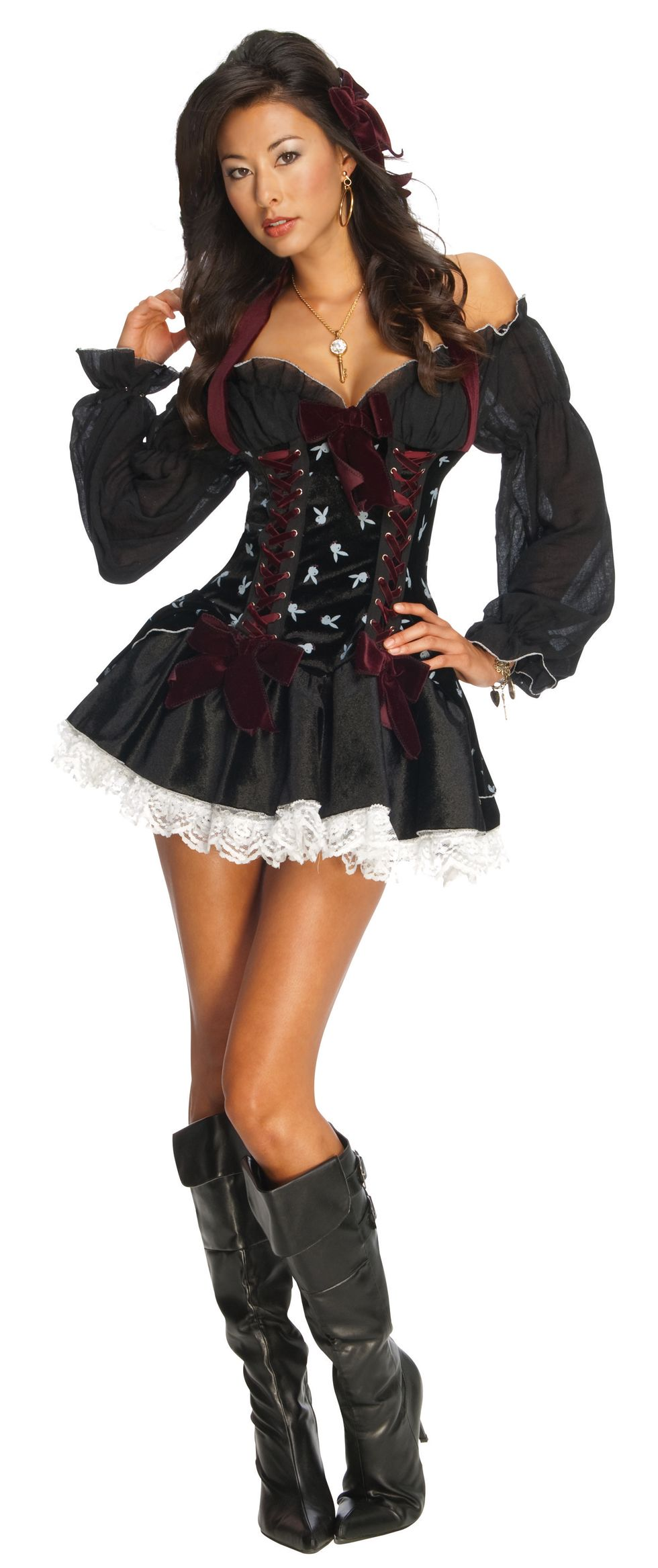 D guisement cavali re sexy playboy costume baroque femme saint valentin - Deguisement halloween sexy ...