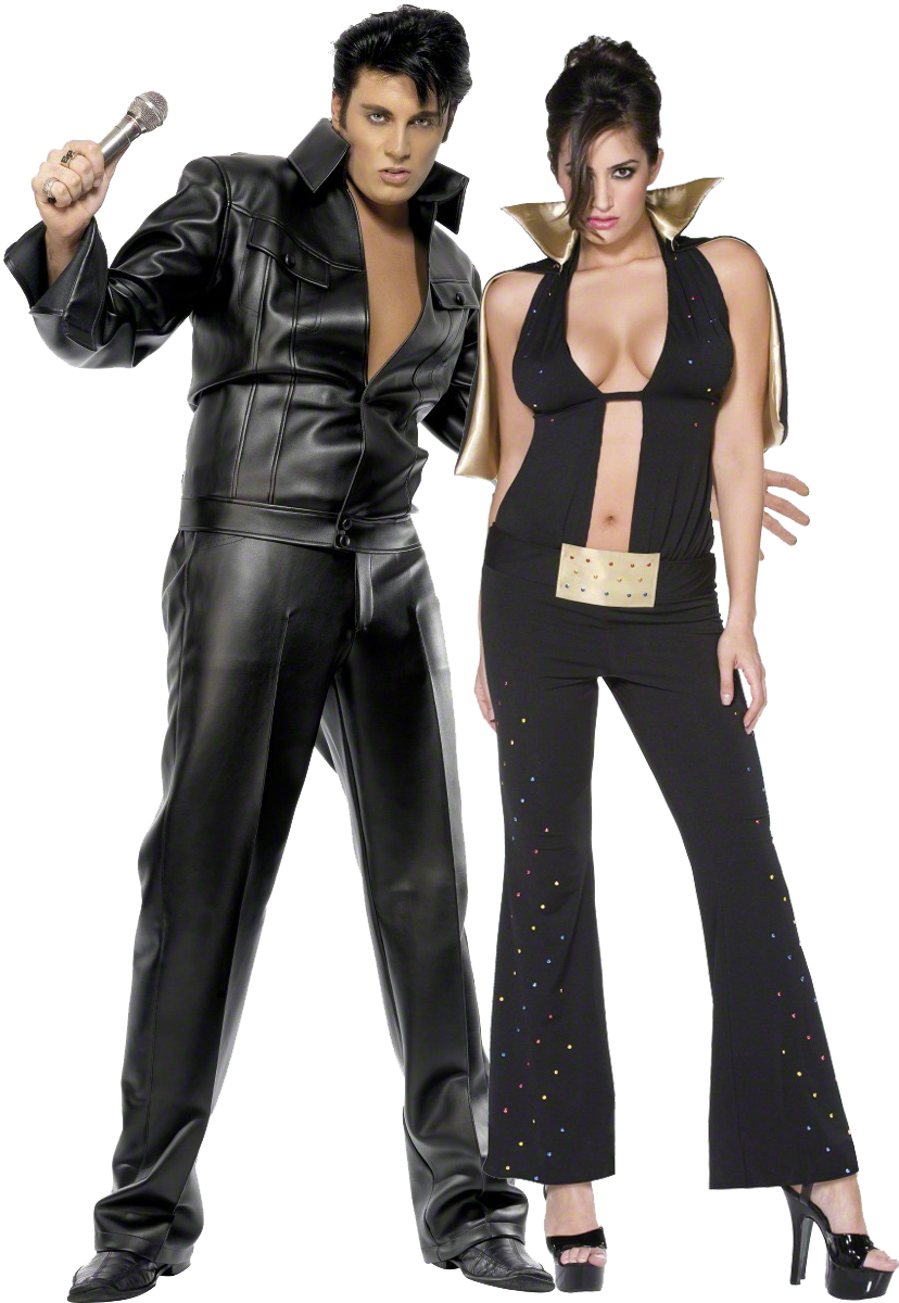 d guisement couple elvis presley costume the king pas. Black Bedroom Furniture Sets. Home Design Ideas