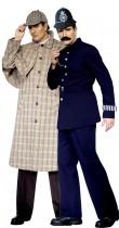 Déguisement couple Sherlock Holmes™ et policier anglais