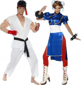 déguisement couple Street Fighter Chun-Li et Ryu