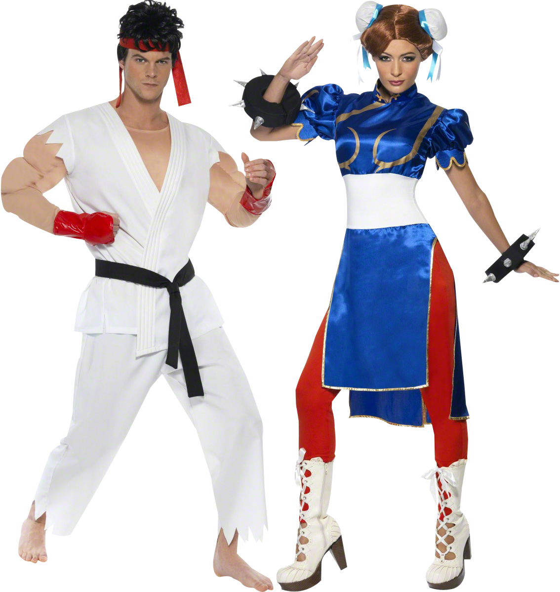 D guisement couple street fighter costume chun li et ryu jeu vid o - Deguisement halloween couple ...