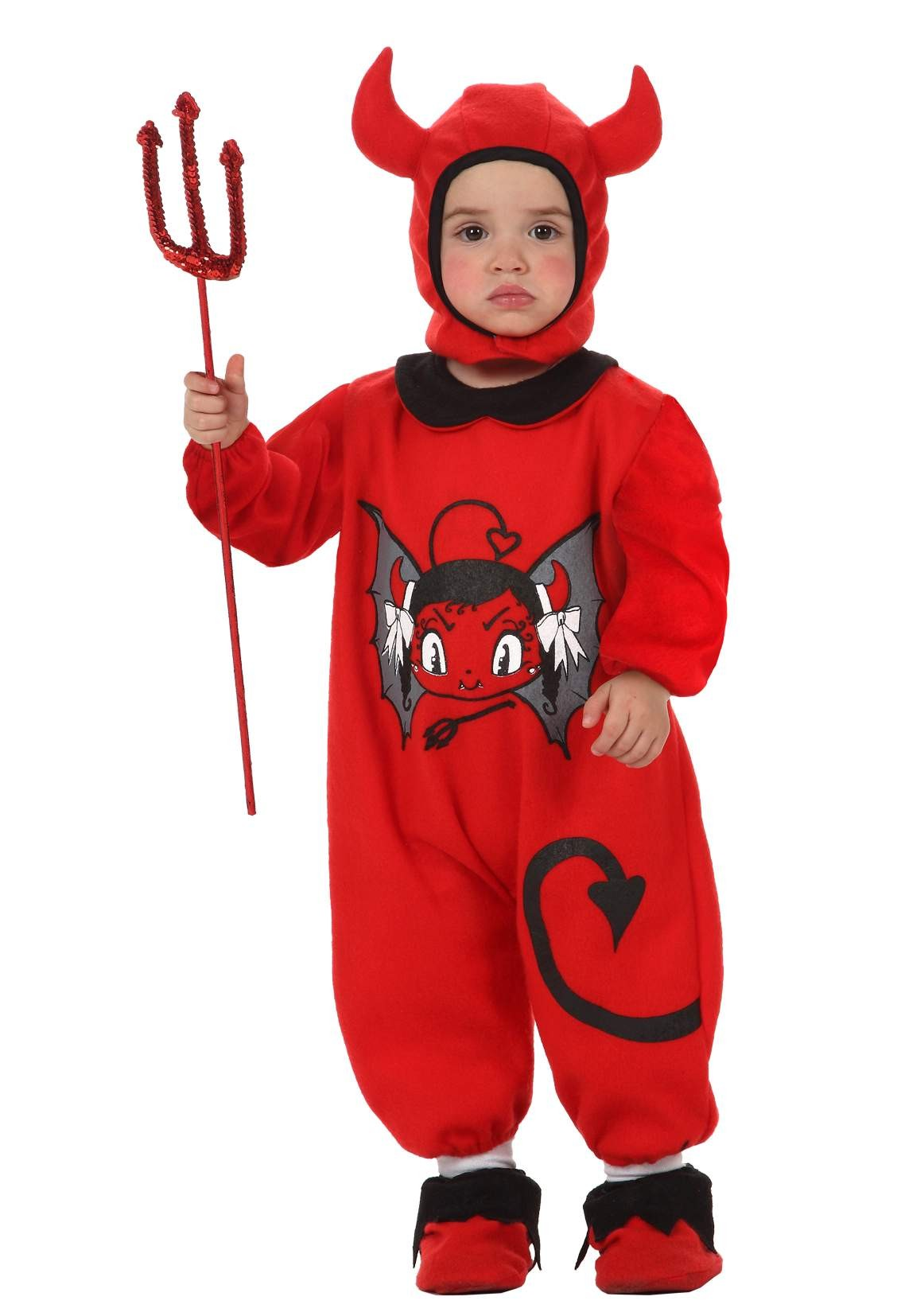 d guisement diable b b costume halloween 0 24 mois pas cher. Black Bedroom Furniture Sets. Home Design Ideas