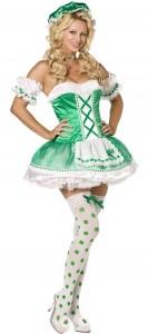 déguisement d'irlandaise sexy
