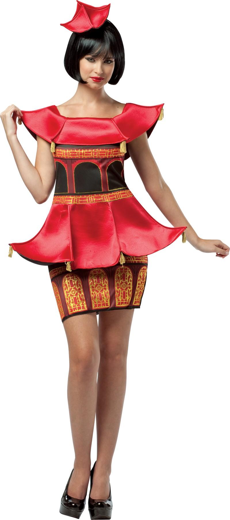 d guisement asiatique original costume de pagode chinoise pas cher pour femme nouvel an chinois. Black Bedroom Furniture Sets. Home Design Ideas