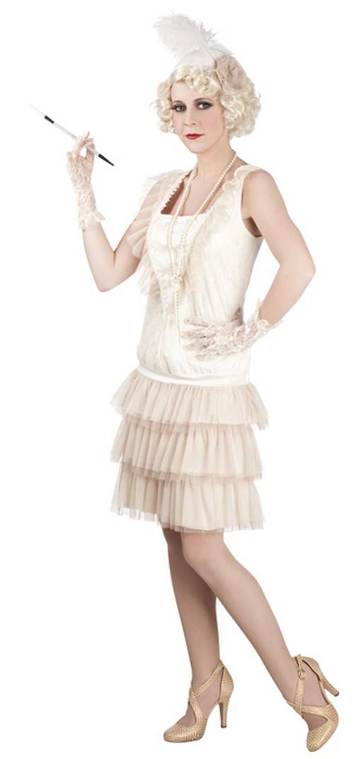 d guisement charleston blanc costume ann es 20 pour femme pas cher. Black Bedroom Furniture Sets. Home Design Ideas