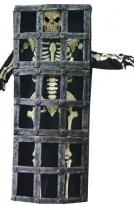 Déguisement squelette dans sa cage
